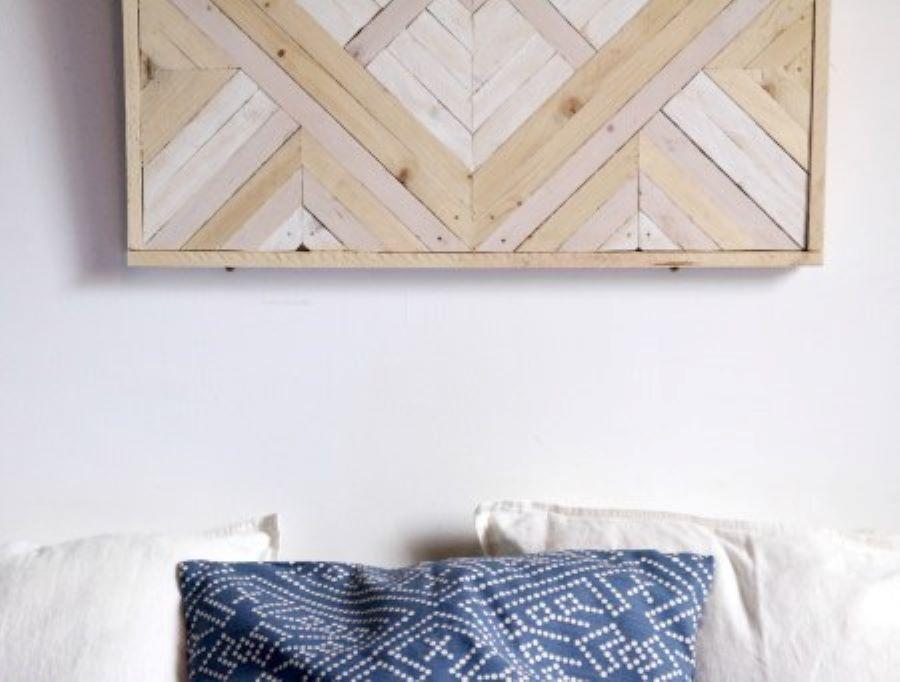 Tableau en marqueterie moderne / Assemblage bois